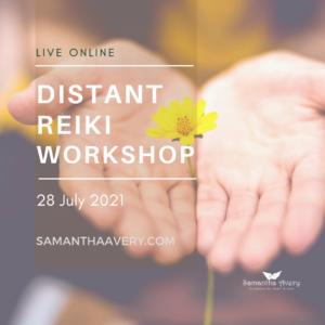 open plams holding yello flower representing distant Reiki Healing workshop