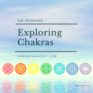 rainbow coloured hindu chalkra symbols with water reflection symbolising Chakra workshop